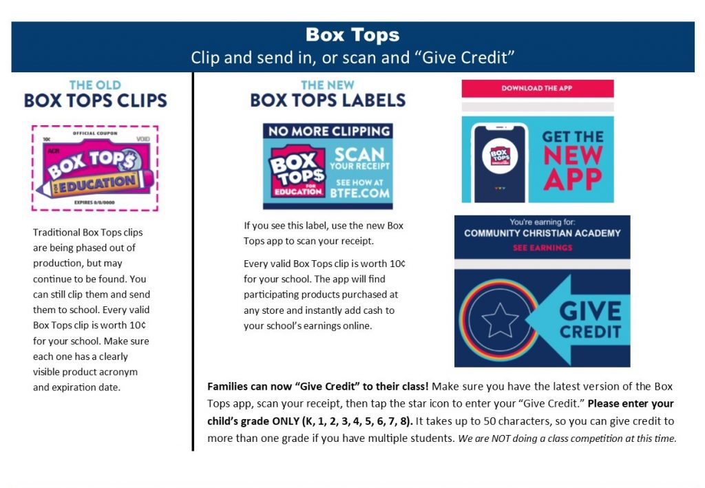 NCA Box Tops
